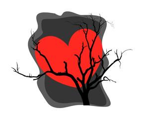 Heart Dead Tree Background