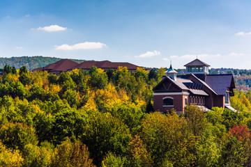 Buildings on a hill near Scranton, Pennsylvania.
