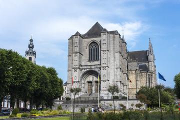 The Sainte-Waudru Collegiate Church in Mons, Belgium