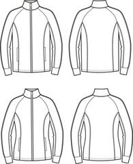 Vector illustration of men's and women's sport jackets