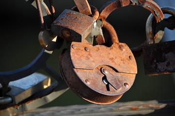 The couple hung a lock on the bridge railing