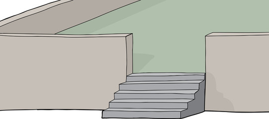 Isolated Stairs on Patio
