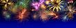 Leinwandbild Motiv Silvesterfeuerwerk
