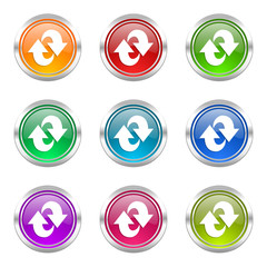 rotation colorful vector icons set