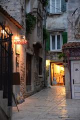 Gasse in Rovinj, Istrien