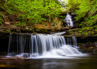 Ozone Falls on Kitchen Creek, in Glen Leigh, Ricketts Glen State
