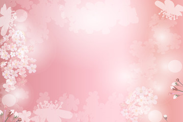 Pink plant background