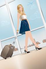 Young woman walking