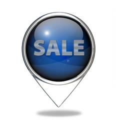 sale pointer icon on white background