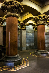 Pillars and interesting architecture inside City Hall, Philadelp