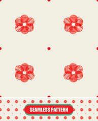 Seamless floral pattern. Hand drawn elements. Vector.