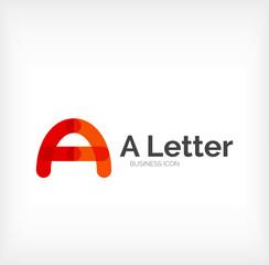 Letter logo, minimal line design
