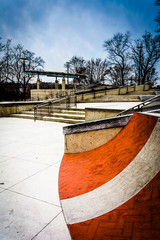 Small skate park at Paine's Park, in Philadelphia, Pennsylvania.