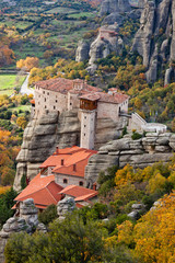 Roussanou Monastery and Meteora Rocks in Greece
