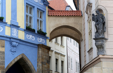 Old town houses in Prague, Czech Republic
