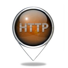 http pointer icon on white background