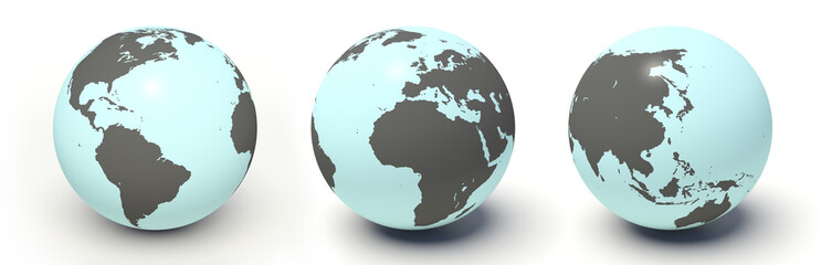 Earth model. 3d render.