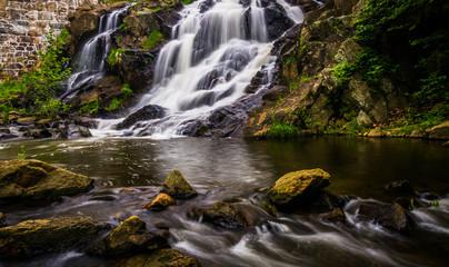 Waterfall and cascades on Antietam Creek near Reading, Pennsylva