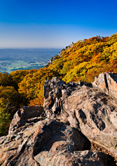 Autumn view of Stony Man Summit and the Shenandoah Valley, from