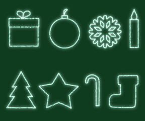 New Year and Christmas design elements.