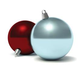 Christmas baubles. Vector illustration.