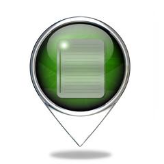 notebook pointer icon on white background