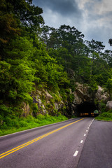 Mary's Rock Tunnel, on Skyline Drive in Shenandoah National Park
