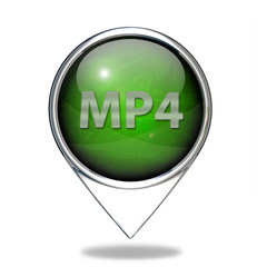 MP4 pointer icon on white background