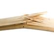 Leinwanddruck Bild - Broken wooden planks