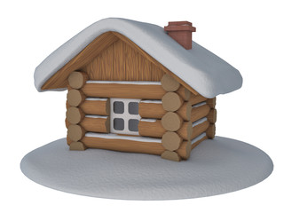 hut on a white background