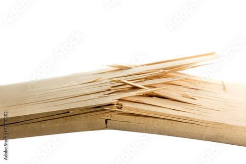 Leinwanddruck Bild Broken wooden planks