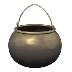 cauldron on a white background