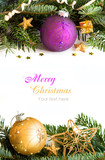 Fototapety Golden and purple Christmas decor