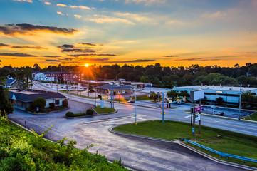 Sunset sky over Shrewsbury, Pennsylvania.