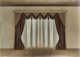 retro luxury curtain
