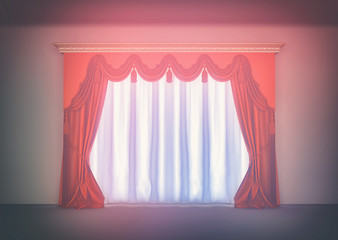 Luxury red curtain