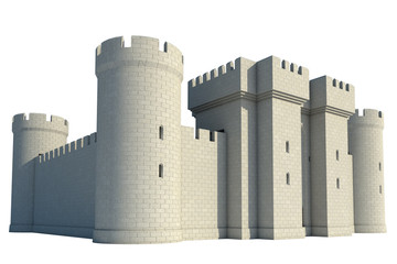 castle on a white background