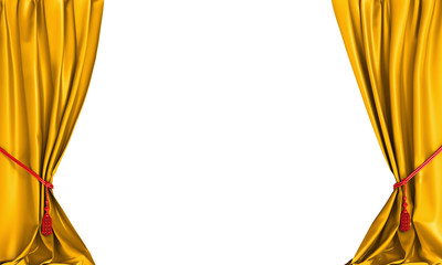 yellow curtains background