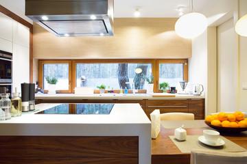Luxury kitchen with modern equipment