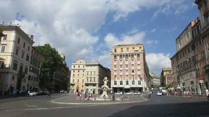 Italy Rome street time lapse