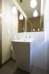 Luxury washroom with designed washstand