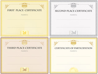 Blank Certificate Set Of Four