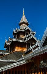 Wooden temple building