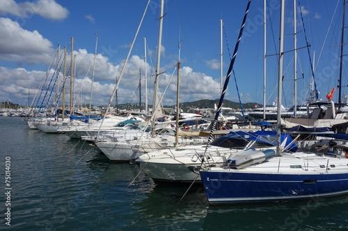 Hafen Mittelmeer Luxus Segelboote Yachten - 75014030
