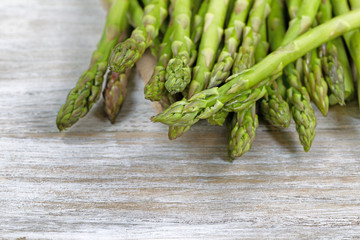 Raw Asparagus ready to cook