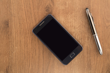 Mobile phone and the pen