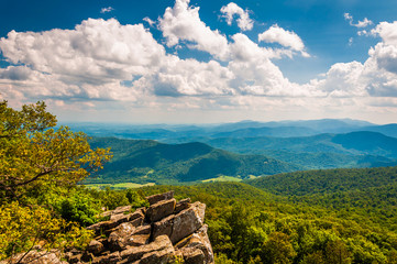 View of the Blue Ridge Mountains from North Marshall in Shenando