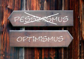 Strassenschild 28 - Optimismus