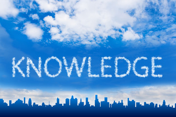 Knowledge text on cloud