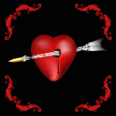 heart pierced